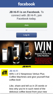 JB HiFi – Win 1 of 2 Nespresso Vertuo Plus Coffee Machines and Give Yourself That Coffee Kick