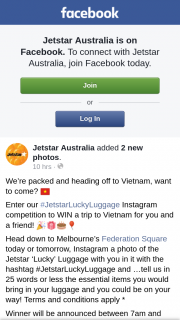 #JetstarLuckyLuggage Competition