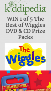 Kiddipedia – Win 1 of 5 The Best of Wiggles DVD & Cd Prize Packs