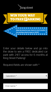 King Street Parking Brisbane – Win a Free Dedicated Car Park With 24/7 Access for 6 Months at King Street Parking (prize valued at $1,800)