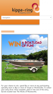 Kippa-Ring Shopping Centre – an Anglapro Chaser 424 Spec Tiller Speed Boat With a Mercury Motor (prize valued at $17,827)