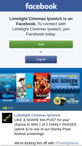 Limelight Cinemas Ipswich – Win 1 of 2 Family Passes (admit 4) to One of Our Disney Pixar Festival Screenings