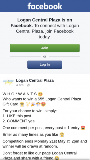 Logan Central Plaza – Win a $55 Logan Central Plaza Gift Card &#129303 (prize valued at $55)