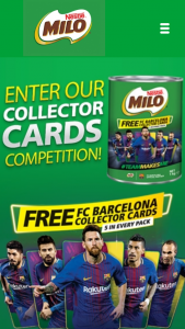 Milo – Win 1/3 Fc Barcelona Training Camp Experiences for Your Child (prize valued at $9,700)
