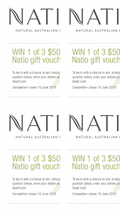 Natio – Win a Prize (prize valued at $500)