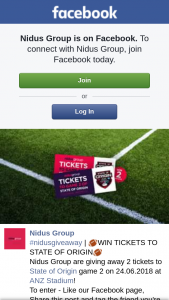 Nidus Group – Tickets to State of Origin