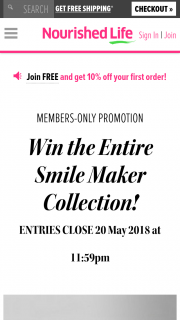 Nourished Life – Win The Full Set of 5 X Smile Makers (prize valued at $224)