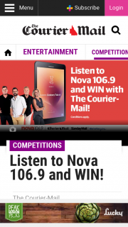 Nova 106.9FM Brisbane – Win Your Own Samsung Tablet Plus a 12-month Complimentary Digital Subscription (prize valued at $2,080)