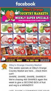 Olley's Orange Country Market – Win Our $50 Fruit & Vegetable Box this Week (prize valued at $50)