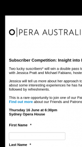 Opera Australia – Win a Double Pass to Attend Our Exclusive In Conversation With Jessica Pratt and Michael Fabiano