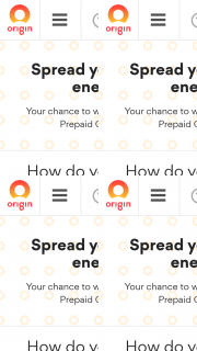 Origin Energery – Win a $2000 Visa Prepaid Gift Card (prize valued at $20,000)