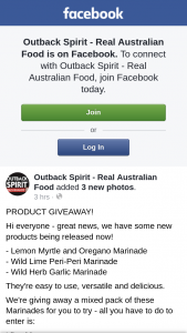 OuTBack Spirit Real Australian Food – a Mixed Pack of These Marinades for You to Try