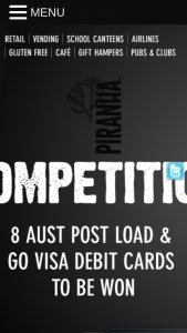 Piranha Snack Foods – Win 1 of 8 Visa Gift Cards (prize valued at $4,750)