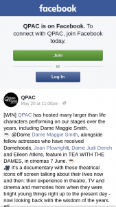 QPAC – Win One of Ten Tea With The Dames Double Passes