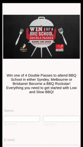 Redheads – Win Two Tickets to Attend a Bbq School Class In Either Melbourne