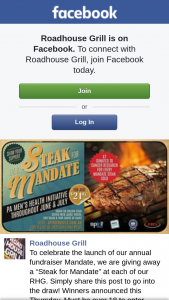 "Roadhouse Grill – a ""steak for Mandate"" at Each of Our Rhg"