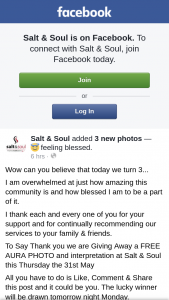 Salt & Soul – a Free Aura Photo and Interpretation