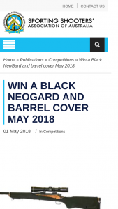 ssaa – Win a Black Neogard and Barrel Cover (prize valued at $65)