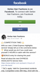 Stefan Hair fashions – Win Our New L'oréal Express Highlights Service