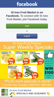 StIves Fruit Market – Win Our Weekly $100 Spend In Store Prize