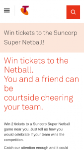 Telstra – Win 2 Tickets to a Suncorp Super NeTBall Game Near You