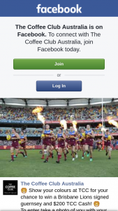 The Coffee Club – Win a Brisbane Lions Signed Guernsey and $200 Tcc Cash
