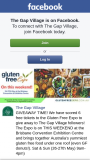 The Gap Village – Win Six Tickets to Gluten Free Expo Brisbane Must Collect