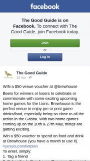 The Good Guide – Win a $50 Venue Voucher at @brewhouse