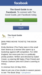 The Good Guide – Win One of Ten Double In-Season Passes to See 'the Book Shop'.