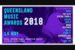 The Music – to The 2018 Queensland Music Awards