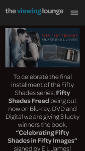 The Viewing Lounge – Win One of Three Signed Copies of Celebrating Fifty Shades In Fifty Images Books