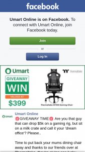Umart Online – Win One of Their Xf100 Gaming Chairs