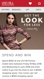Uni Hill Bundoora – Win Comp – terms and Conditions (prize valued at $2,000)