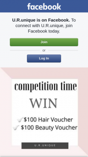 URunique – Win $100 Hair Voucher $100 Beauty Voucher Likesharetag (prize valued at $200)