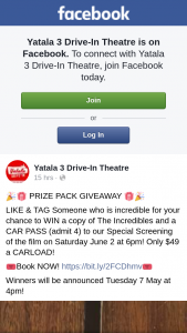 Yatala 3 drive-in theatre – Win a Copy of The Incredibles and a Car Pass (admit 4) to Our Special Screening of The Film on Saturday June 2 at 6pm
