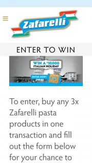 Zafarelli – Win One (1) Travel Voucher Valid for Travel to Italy Issued By Miles Away Pty Ltd T/a Genesis