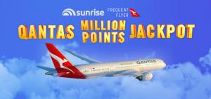 "Channel Seven – Sunrise Qantas Frequent Flyer ""Qantas Million Point Jackpot"" – Win 1 of 26 prizes of a Million QFF points"