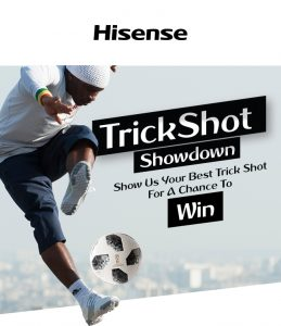 Hisense Australia – Trick Shot Showdown – Win an Ultimate Fan Pack valued at $2,256 OR 1 of 3 minor prize packs valued at $168 each