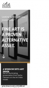 Art Index – Win a $12000 Art Investment Portfolio (prize valued at $12,000)