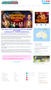 Aussie Kids – Win a Family Pass to 'sleeping Beauty