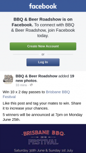 BBQ & Beer Roadshow – Win 10 X 2 Day Passes to Brisbane Bbq Festival