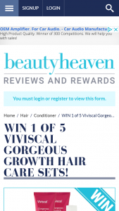 Beauty Heaven – Will Receive a Viviscal Densifying Shampoo