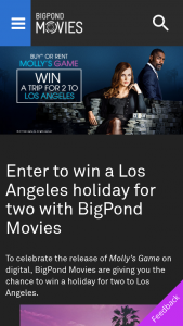 Bigpond Movies – Win a Los Angeles Holiday for Two With Bigpond Movies (prize valued at $5,800)