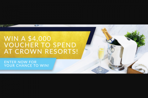 Blueprint Homes – Win $4000 Crown Resorts Voucher (prize valued at $4,000)