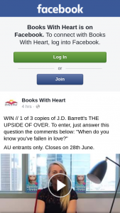 Books With Heart – Win One of Three Copies of Jd Barrett's The Upside of Over