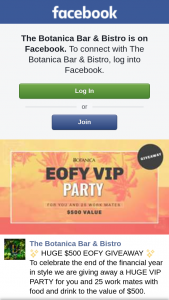 Botanica Bar and Bistro – Win a Eofy Party for Up to 25 People (prize valued at $500)