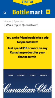 Bottlemart – Sip n Save – Win The Major Prize of a Trip for Two (2) Adults to Queenstown (prize valued at $225)