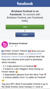Brisbane Festival – Win a Double Pass to Brisbane French Festival
