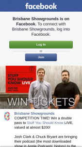 Brisbane Showgrounds – Win a Double Pass to Stuff You Should Know Live