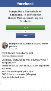 Bumpa Mat – Win a Bumpa™ Mat Bumpa Bum (prize valued at $24.95)
